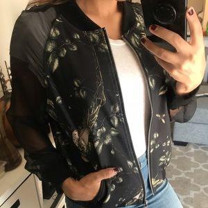 Jackets & Coats - Sheer sleeve bomber